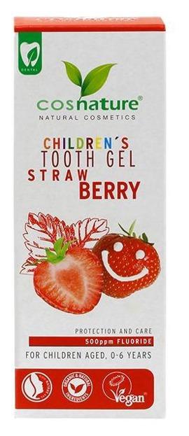 COSNATURE Żelowa pasta do zębów dla dzieci o smaku truskawkowym 50ml