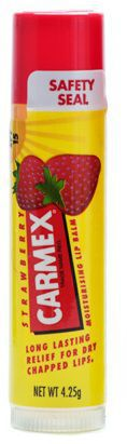 Carmex Strawberry Nawilżający balsam do ust w sztyfcie - koi, chroni, nawilża 4,25