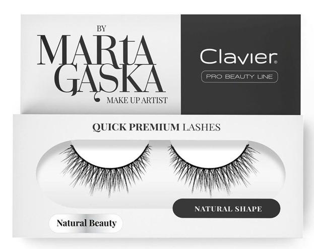 Clavier Quick Premium Sztuczne rzęsy na pasku 827 Natural beauty