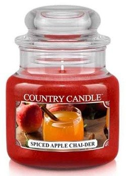 Country Candle Spiced Apple Chai-De Mały słoik świeca 104g