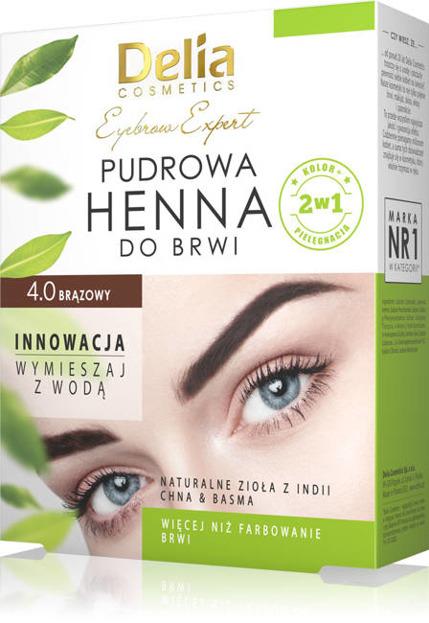 Delia Henna pudrowa do brwi 4.0 brązowy