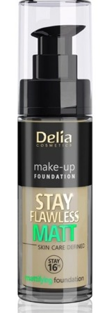 Delia STAY FLAWLESS MATT SKIN DEFINED 16H Podkład matujący 406 30ml