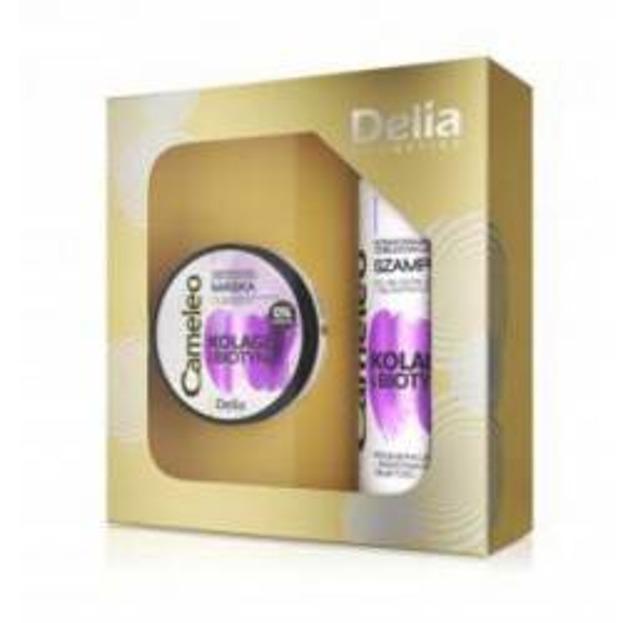 Delia Zestaw Kolagen i Biotyna maska+szampon