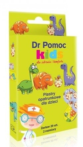 Dr Pomoc Plastry opatrunkowe Kids chłopięce 20szt
