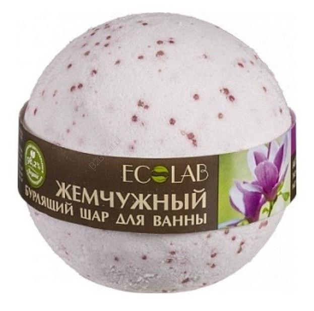 EOLAB Musująca kula do kąpieli perłowa z olejek magnolii i ekstraktem ylang ylang 220g