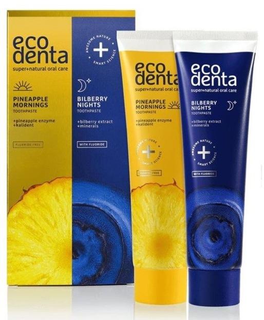 EcoDenta Zestaw past do zębów 2x100ml