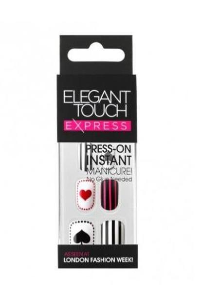 Elegant Touch Express Press – On Instant Manicure - Sztuczne paznokcie samoprzylepne Alice, 24 sztuki