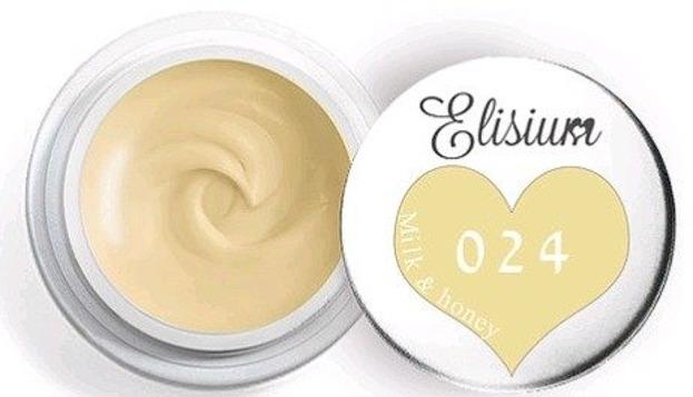 Elisium UV Gel 024 Milk & Honey 5ml Farba żelowa do zdobień 5ml