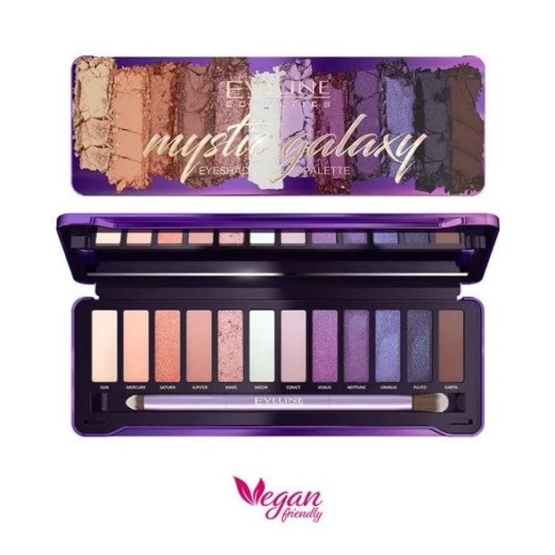 Eveline Cosmetics MYSTIC GALAXY Paleta cieni do powiek 12g