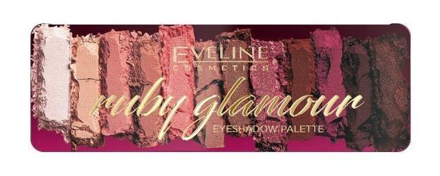 Eveline Cosmetics RUBY GLAMOUR Paleta cieni do powiek 12g