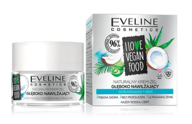 Eveline I LOVE VEGAN FOOD Głęboko nawilżający krem-żel do twarzy Woda kokosowa 50ml