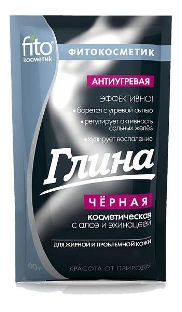 Fitokosmetik Glinka Czarna Przeciwtrądzikowa, 60 g