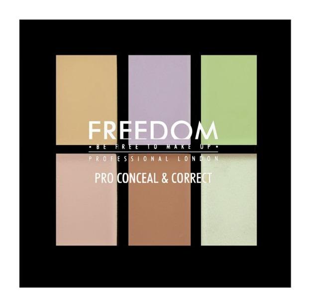 Freedom Makeup PRO Correct Palette - Paleta 6 korektorów do twarzy