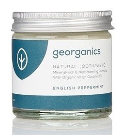 GEORGANICS Mineralna pasta do zębów w słoiku English Peppermint 60ml