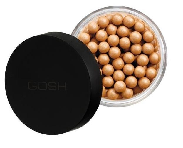 GOSH Precious Powder Pearls Glow - Opalizująco-brązujący puder w kulkach