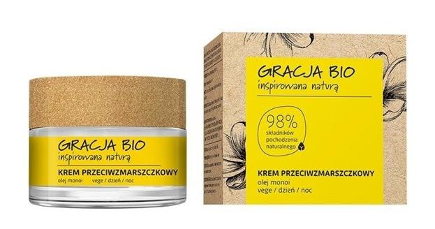 GRACJA BIO Krem do twarzy przeciwzmarszczkowy z olejem monoi DZIEŃ/NOC 50ml