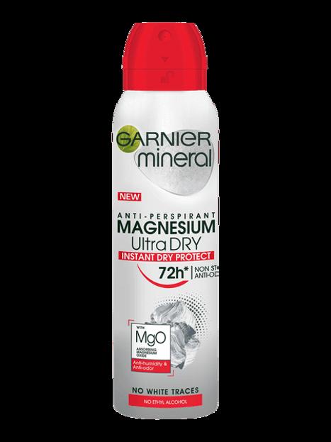 Garnier Magnesium Ultra Dry 72H Antyperspirant w sprayu 150ml