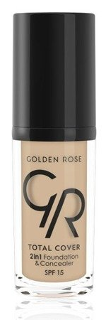 Golden Rose Total Cover 2 in 1 Foundation & Concealer Kryjący podkład i korektor 2w1 01 Porcelain