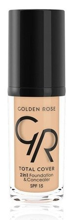Golden Rose Total Cover 2 in 1 Foundation & Concealer Kryjący podkład i korektor 2w1 02 Ivory