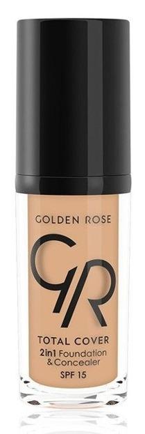 Golden Rose Total Cover 2 in 1 Foundation & Concealer Kryjący podkład i korektor 2w1 04 Beige