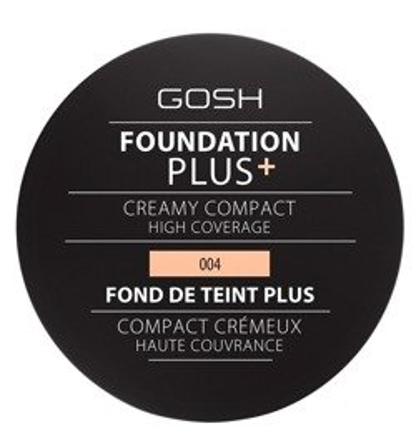Gosh Foundation Plus Creamy Compact Podkład w kompakcie 004 Natural 9g