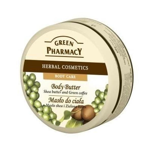 Green Pharmacy Masło do ciała Masło shea i Zielona Kawa, 200 ml