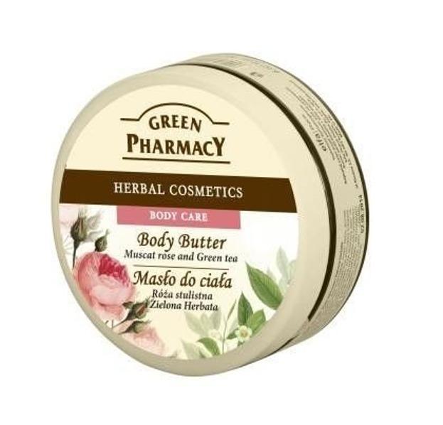 Green Pharmacy Masło do ciała Róża Piżmowa i Zielona Herbata, 200 ml