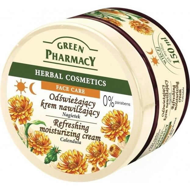 Green Pharmacy Odświeżający krem nawilżający do twarzy Nagietek 150ml