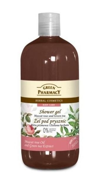 Green Pharmacy Żel pod prysznic Róża Piżmowa i Zielona Herbata, 500 ml