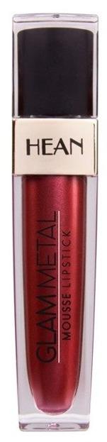 HEAN GLAM METAL Mousse Lipstick Metaliczna pomadka w płynie 501 BLACKSTAR RED