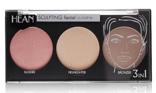 Hean Sclupting Facial Palette 3in1  - Paleta do konturowania