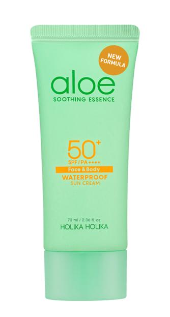 Holika Holika Aloe Waterproof Sun Cream SPF50+ Krem przeciwsłoneczny z ekstraktem z aloesu NOWA FORMUŁA 70ml