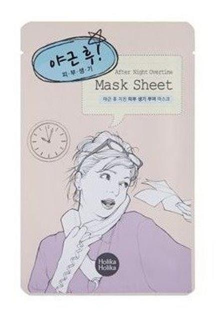 Holika Holika Mask Sheet After Night Overtime - Rewitalizująca maseczka w płachcie 18ml