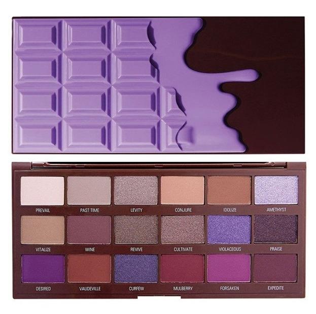 I Heart Revolution Violet Palette Paleta cieni do powiek CZEKOLADA