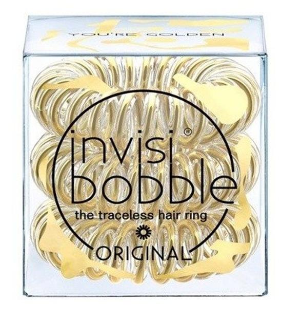 INVISIBOBBLE Złota gumka do włosów YOU'RE GOLDEN 3sztuki