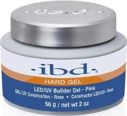 Ibd Hard Gel LED/UV Builder Gel  - Żel budujący Pink 56g
