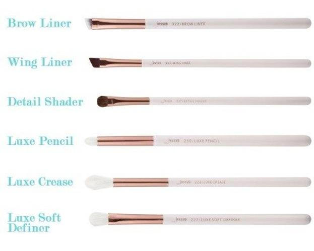 Jessup Individual Brushes Set T221 Zestaw 6 pędzli do makijażu White/Rose gold