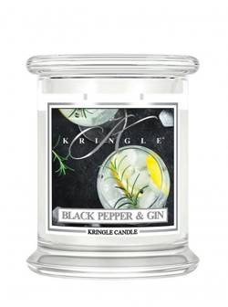 Kringle Candle słoik średni Black Pepper&Gin 411g