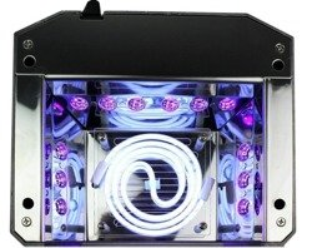Lampa CCFL-LED 36W Diamond Quick CCFL z sensorem ruchu Czerwona