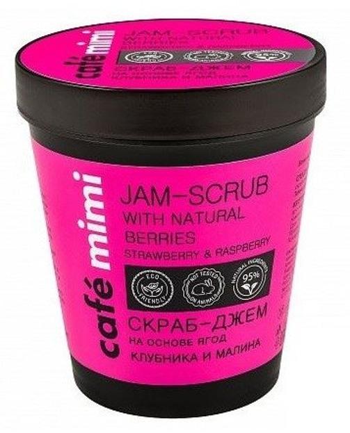 Le Cafe Mimi Jam-scrub Cukrowy scrub do ciała Truskawka&Malina270ml