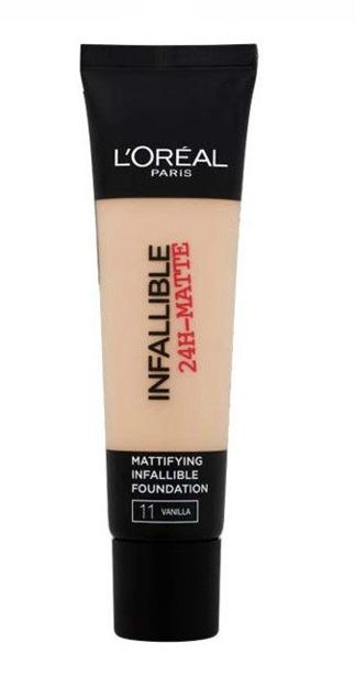 Loreal Infallible 24-Matte Mattifying Foundation - Długotrwały podkład matujący do twarzy 11  Vanilla 35 ml