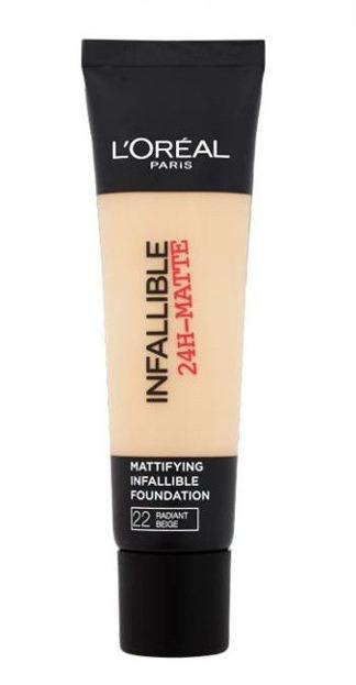 Loreal Infallible 24-Matte Mattifying Foundation - Długotrwały podkład matujący do twarzy 22 Radiant Beige 35 ml