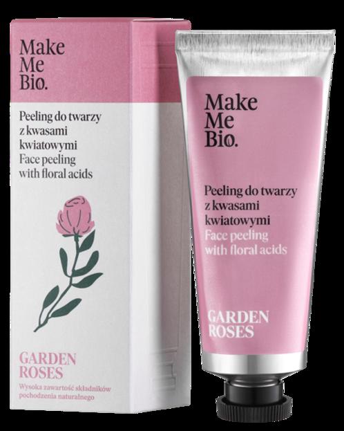 Make Me Bio Garden Roses peeling do twarzy z kwasami kwiatowymi 40ml