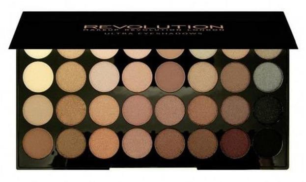 Makeup Revolution 32 Eyeshadow Beyond Flawless - Paleta 32 opalizujących cieni do powiek