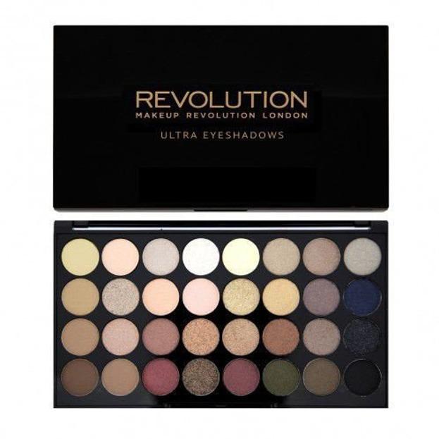 Makeup Revolution 32 Eyeshadow Palette - Paleta 32 cieni do powiek Flawless