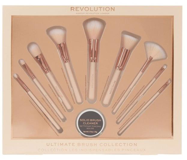 Makeup Revolution Brush Collection  Zestaw 9 pędzli i mydełka do mycia pędzli