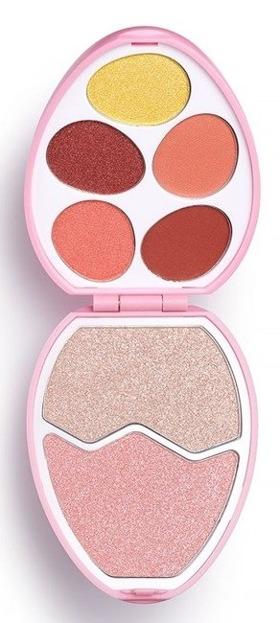 Makeup Revolution EASTER EGG Flamingo Paleta cieni do powiek i rozświetlaczy