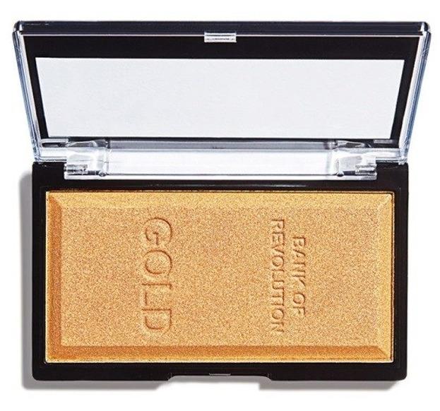 Makeup Revolution Gold Ingot Highlighter Rozświetlacz do twarzy