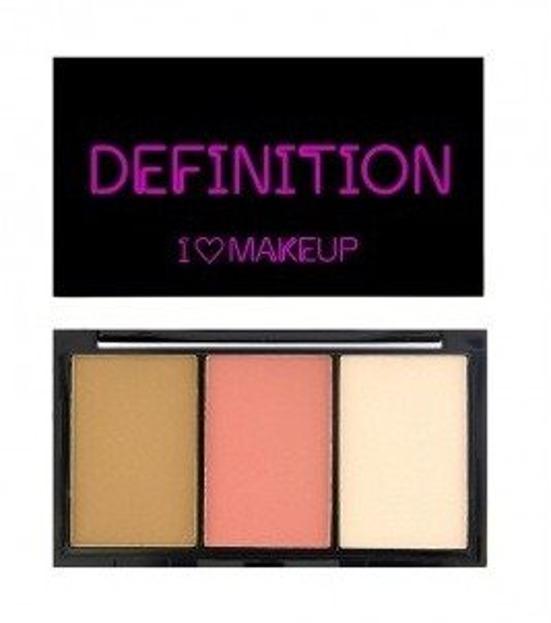 Makeup Revolution I Heart Makeup I Heart Definition Fair Paleta do konturowania 11g