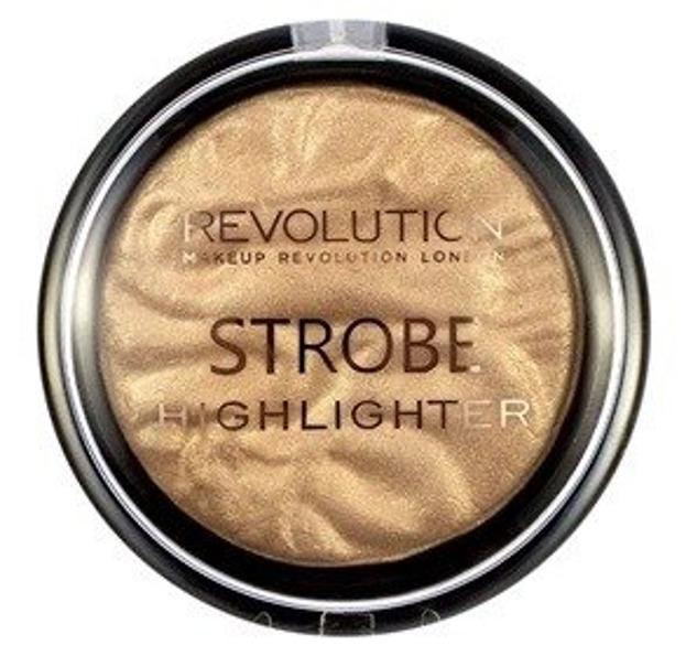Makeup Revolution Strobe Gold Addict Rozświetlacz do twarzy